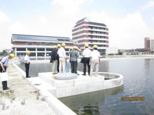 試験通水中の鍋屋上野浄水場